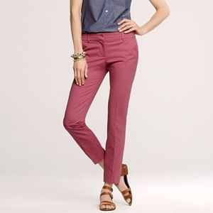 J.Crew Cafe Capri Pants Dried Rose 6 Trouser